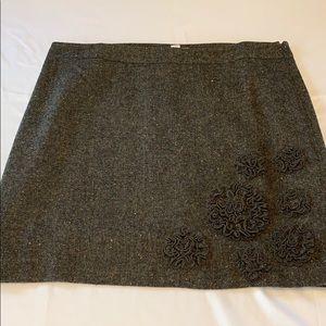 Ann Taylor LOFT wool blend skirt size 16